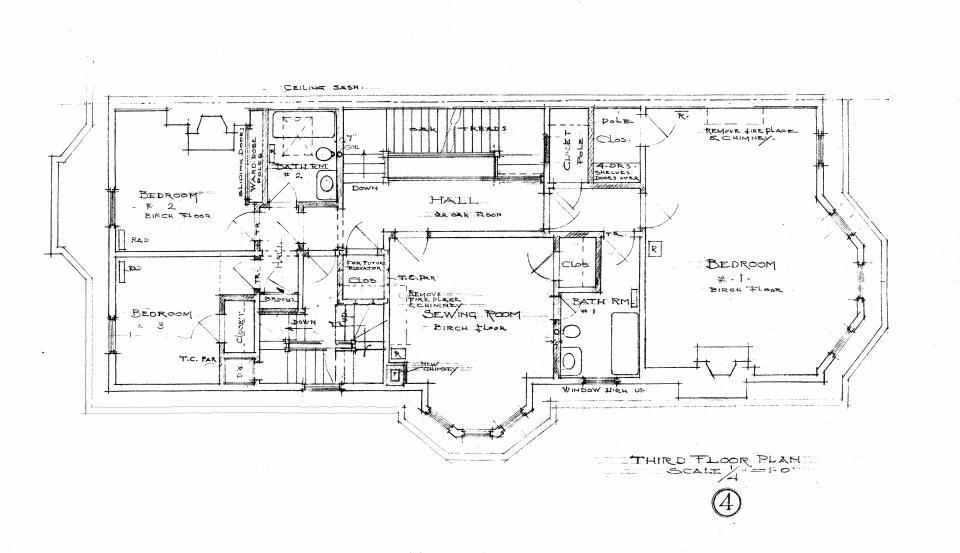 400 Beacon, third floor plan (1910)