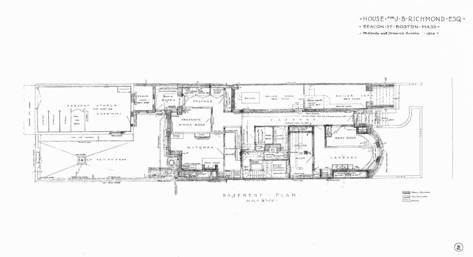 310 Beacon (1903), basement plan