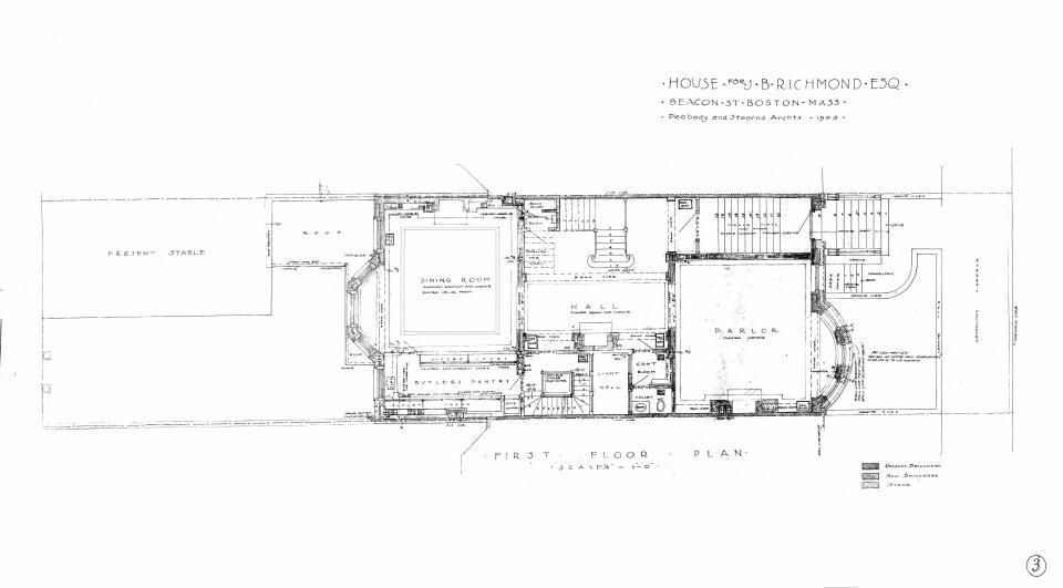 310 Beacon (1903), first floor plan