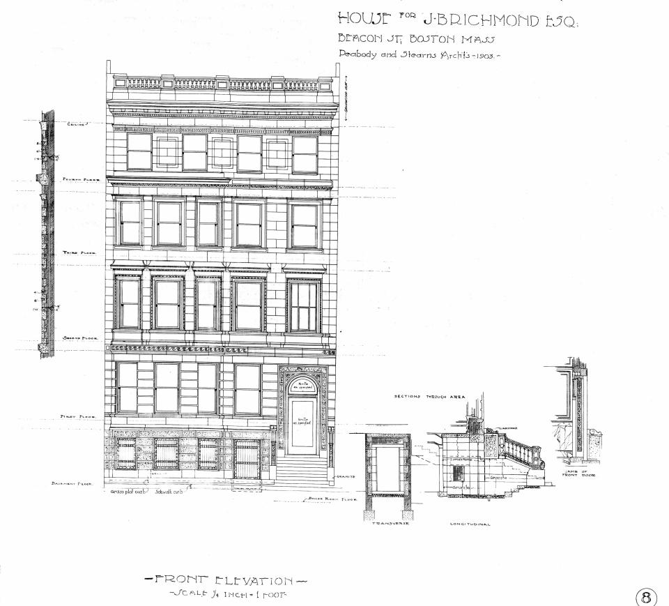 310 Beacon (1903), front elevation