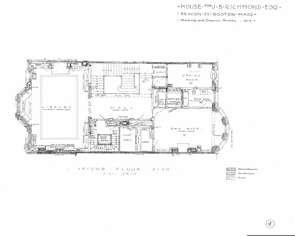 310 Beacon (1903), second floor plan