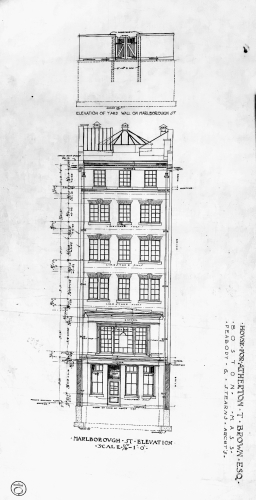401 Commonwealth, basement plan, Peabody and Stearns (1901)